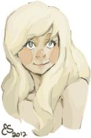 blond girl by eseagull