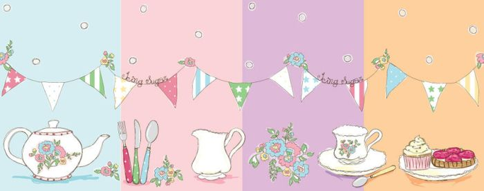 Sketchy Tea Party Print by decora-rockstar