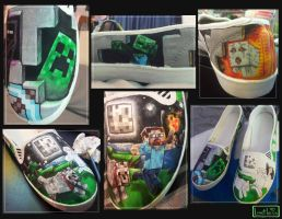Minecraft shoes by Faye-Fox