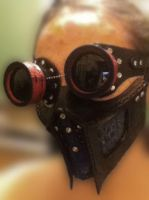 Mask and goggles by Leatherfanshop