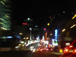 Vancouver at Night by Saphiroko