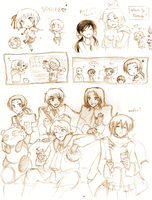 More Hetalia Doodles by Kjbionicle
