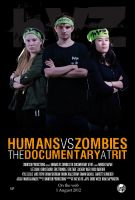 HvZ Documentary at RIT Poster 2 - Zombies by foreverCTY