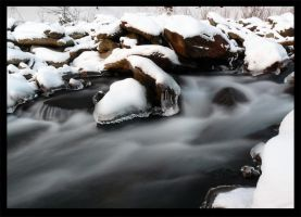 river in winter.. by Ladan-cz