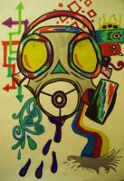 Gas Mask Blast by usedheartOoO