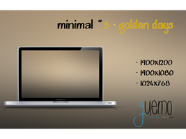 Minimal #5 - Golden Days by guemor