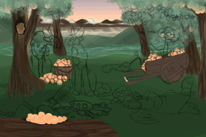 Peachy Days animation WIP by DesertJewels