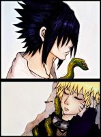 Collab: Sasuke and Naruto by Myra-A