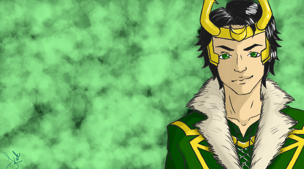 Loki (Wallpaper) by Akra-Cat