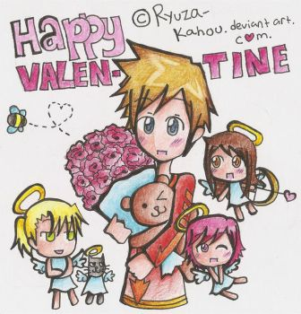 happy valentine by ryuza by Traditional-Artist