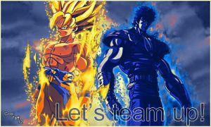 Kenshiro and Goku Signature by CoolTaff12