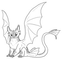 FREE Toothless Lineart by Leafyful