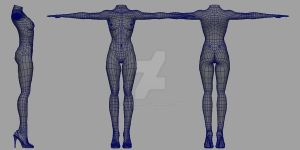female wireframe by rlemar