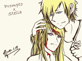 Stella x Prompto by assinas