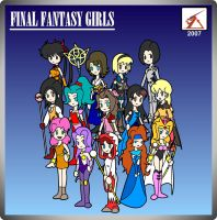 Final Fantasy Girls by Delta-Kaoz