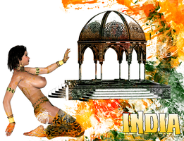 India Poster 1 by sturkwurk