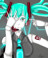 Hatsune Miku Robot by kittypiekilljoy