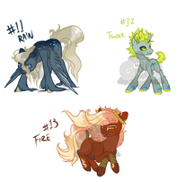 100 pony Theme freehand Adopts! 11-13 [closed] by LavvytheJackalope