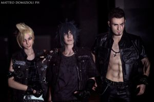 Final Fantasy XV - Gladiolus , Prompto and Noctis by LeonChiroCosplayArt