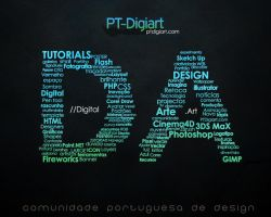 PT-Digiart Typography by Shadowtuga