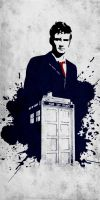The 10th Doctor and his TARDIS by ChipsEss0r