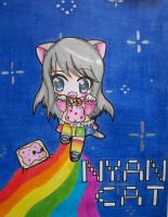 Chibi Nyan Cat Girl by Kaidankuri