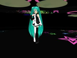 MMD Meltdown Miku by midnighthinata