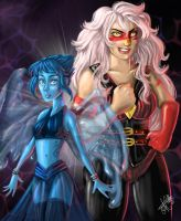 STEVEN UNIVERSE- Lapis and Jasper by red-lawliet95