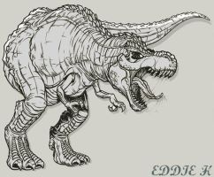 T Rex by EddieHolly
