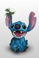 Stitch with butterfly by ruxandramarin