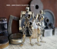 Articulated Watch Parts Humanoids Nos 187 and 188 by AMechanicalMind