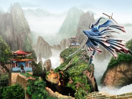 Chinese landscape by Deivis by studiodrawings