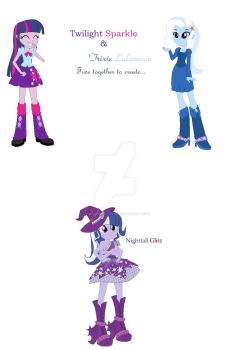 MLP Fusions #12 Twilight and Trixie by creepypastaFran