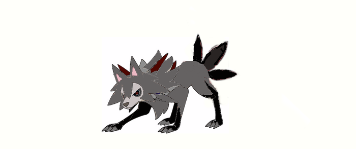 Dark and steel type lycanroc. by MoonMan246