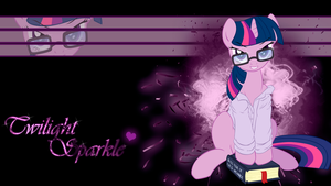 Sexy Twilight Sparkle Wallpaper by BlueDragonHans