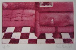 Second Etching-Aquatint -red by AngryGiftHorse