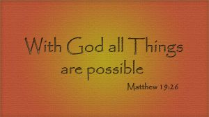With God all things are possible by TravisLutz