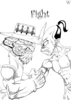 ABE vs STRANGER by theoddworldland