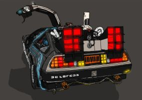 Sci Fi Set 5 - BttF Delorean by resresres