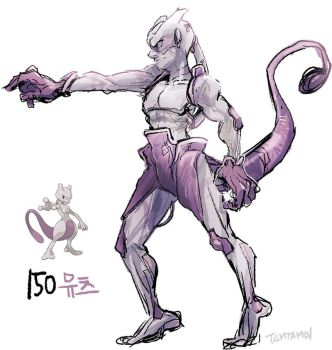 150.Mewtwo by tamtamdi