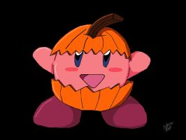 Kirby Pumpkin by moonlightshadowmel