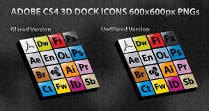 ADOBE CS4 3d DOCK ICONS by FT69