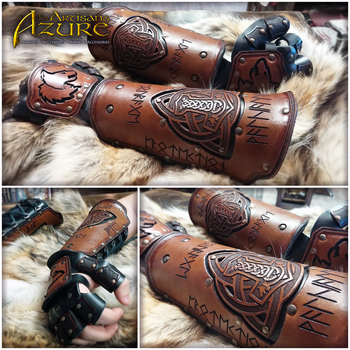 Gauntlets of the Viking King by ArtisansdAzure