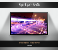 City Lights Traffic Wallpaper by theminimalisto