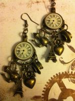 Parisienne Cafe Earrings... by NenaPerrill