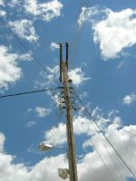 Pylon And Blue Sky by Milkyway84