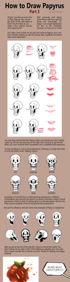 How to Draw Papyrus: Part 3 by fluffySlipper