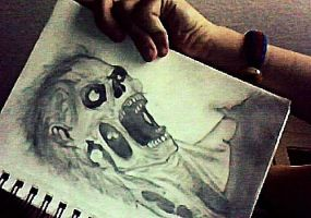 Zombie drawing by COLYPSO333