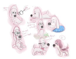 peabooty puppy doodles by What-The-WABAC