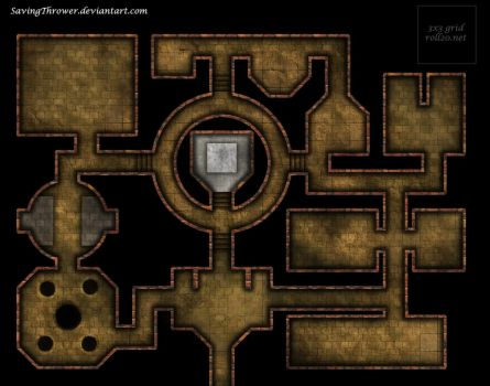 Clean stone dungeon battlemap for DnD / roll20 by SavingThrower